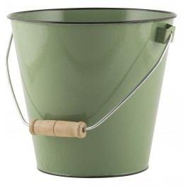 Smaltovaný kyblík Green 5,5l, zelená barva, smalt