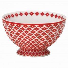 Francouzská miska Judy red M, červená barva, porcelán