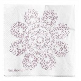 Papírové ubrousky Lilac Lotus, růžová barva, bílá barva, papír