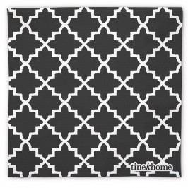 Papírové ubrousky Marocco Grey, šedá barva, bílá barva, papír