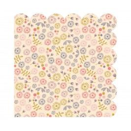 Papírové ubrousky Fleurs Cream, multi barva, krémová barva, papír
