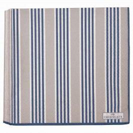 Papírové ubrousky Nora blue - 20 ks, modrá barva, šedá barva, papír
