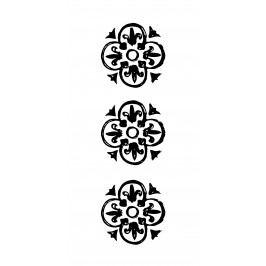 Papírové ubrousky Black pattern, černá barva, bílá barva, papír
