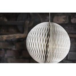 Ozdobná papírová koule Noval 23 cm, bílá barva, papír
