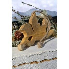 Dřevěný andílek Wood, hnědá barva, dřevo