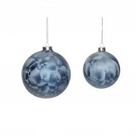 Vánoční baňka Blue frost Menší, modrá barva, sklo