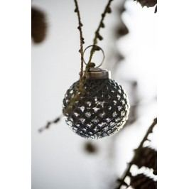 Vánoční mini ozdoba Black small, černá barva, sklo