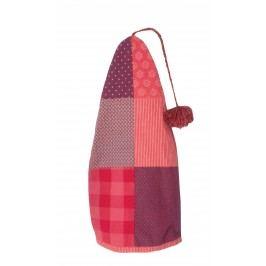 Pixie čepice Patchwork red/purple, červená barva, textil