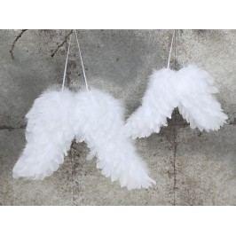 Andělská křídla white - větší 26cm, bílá barva, textil