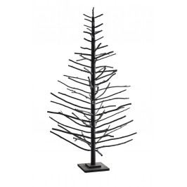 Kovový stromeček Christmas black  - 180cm, černá barva, kov
