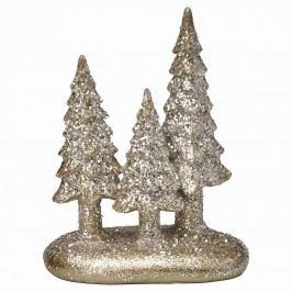 Dekorativní stromečky December silver, zlatá barva, stříbrná barva, pryskyřice