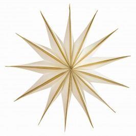 Papírová hvězda White/gold 30cm, bílá barva, zlatá barva, papír