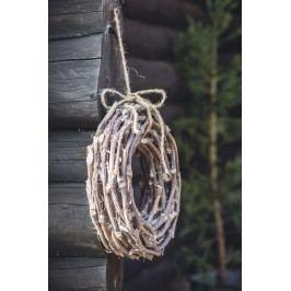 Dekorativní věnec z větviček - 40cm, hnědá barva, dřevo