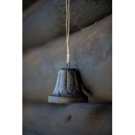 Kovový zvoneček Bell, černá barva, kov