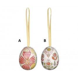 Plechová vajíčka - malá A - větší květ, multi barva, kov