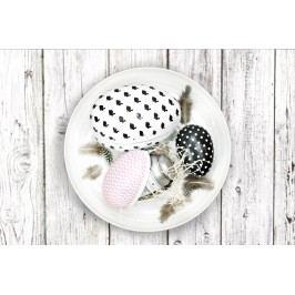 TAFELGUT Papírové velikonoční vajíčko Black Černé s puntíky, růžová barva, černá barva, bílá barva, papír