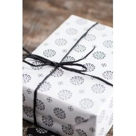 Balicí papír Circle white - 10m, černá barva, bílá barva, papír