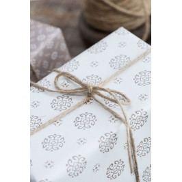 Balicí papír Circle milky brown - 10m, bílá barva, hnědá barva, papír