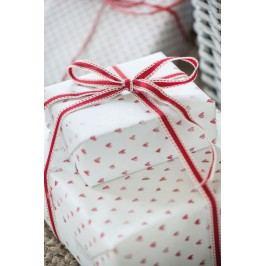 Balící papír Hearts - 10 m, červená barva, bílá barva, papír