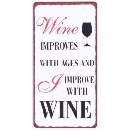 Wine improves, bílá barva, kov