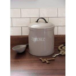 Garden Trading Box na granule s lopatkou Feed Me S, hnědá barva, kov