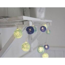 Dekorativní svítící řetěz Blue Lights, modrá barva, textil