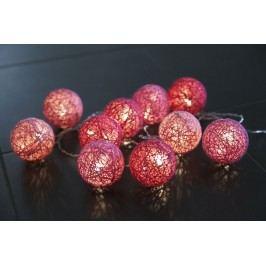 Světelný lampionový řetěz Jolly Pink, růžová barva, plast, textil