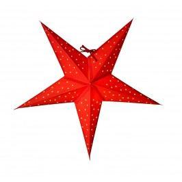 watt & VEKE Závěsná svítící hvězda Stella Red 52 cm, červená barva, papír