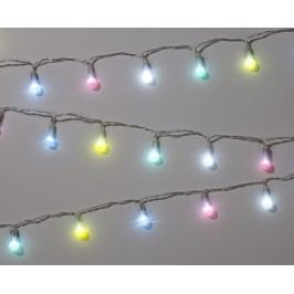 Pastelový LED řetěz Fairy Lights, multi barva, sklo