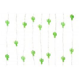 Mini LED světýlka Cactus, zelená barva, plast