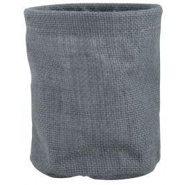 Jutový obal na květináč - šedý, šedá barva, textil