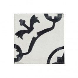 Dekorativní cementová kachle Marokko, černá barva, bílá barva