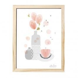 Obrázek Tea break 30x40 cm, multi barva, dřevo