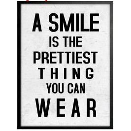 La finesse Obrázek Pretty Smile, černá barva, čirá barva, sklo, dřevo