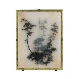 Fotorámeček Antik medium, multi barva, sklo, dřevo