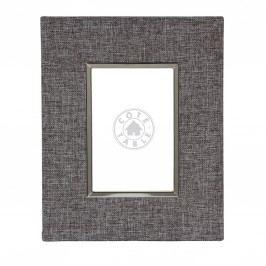 Fotorám Schiste 27x22, šedá barva, textil