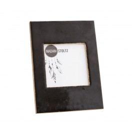 Dřevěný fotorámeček s opěrkou Shiny Black - menší, černá barva, sklo, dřevo
