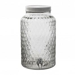 Skleněná nádoba na nápoje - 6 L, čirá barva, sklo