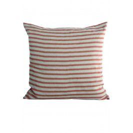Povlak na polštář Rust stripes 50x50, oranžová barva, textil