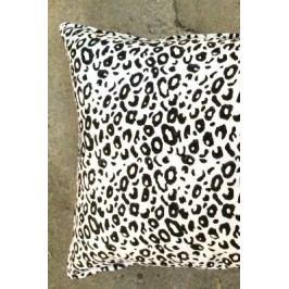 Bavlněný povlak na polštář Leopard Print, černá barva, bílá barva, textil