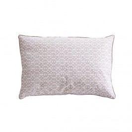 Povlak na polštář Nude Print, béžová barva, bílá barva, textil