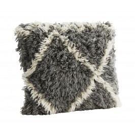Chlupatý povlak na polštář Grey Harlequin 45x45 cm, šedá barva, textil