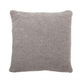 Pletený polštář s výplní Grey 50x50 cm, šedá barva, textil