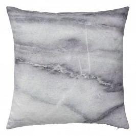 Polštářek s mramorovým potiskem Marble, šedá barva, textil