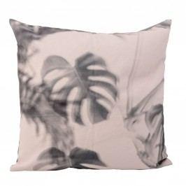 Polštář Print powder 45 x 45 cm, růžová barva, šedá barva, textil