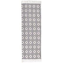Kobereček Grey pattern 60x180, šedá barva, textil