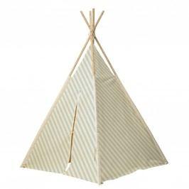 Stan pro děti Mint/Off-white, zelená barva, krémová barva, dřevo, textil