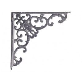 Kovová konzole Grey monogram, šedá barva, kov