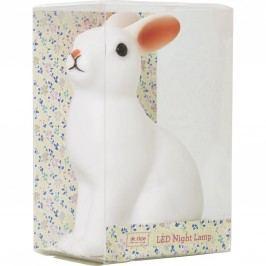 Dětské noční LED světýlko Rabbit, bílá barva, plast