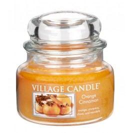 Svíčka ve skle Orange Cinnamon - malá, oranžová barva, sklo